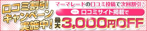 ★口コミ投稿で最大3,000円OFF★口コミキャンペーン♪